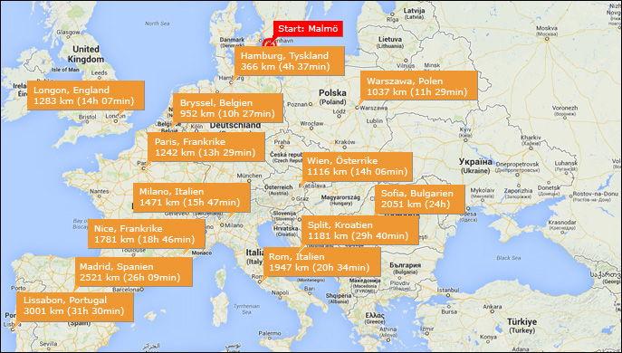 Vad Kostar En Bilsemester I Europa